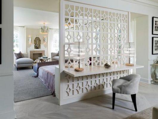 parede vazada branca para um quarto