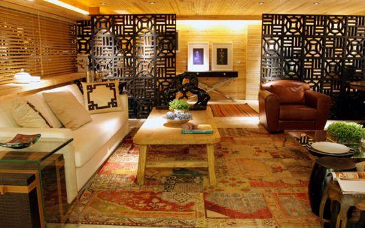 parede vazada em uma sala de estar