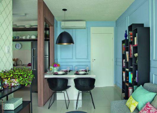 parede vazada simples para apartamento pequeno