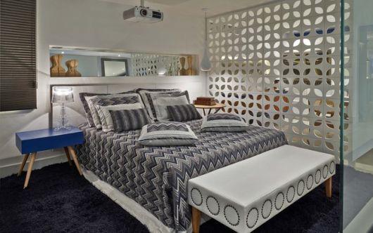parede vazada em design de quarto