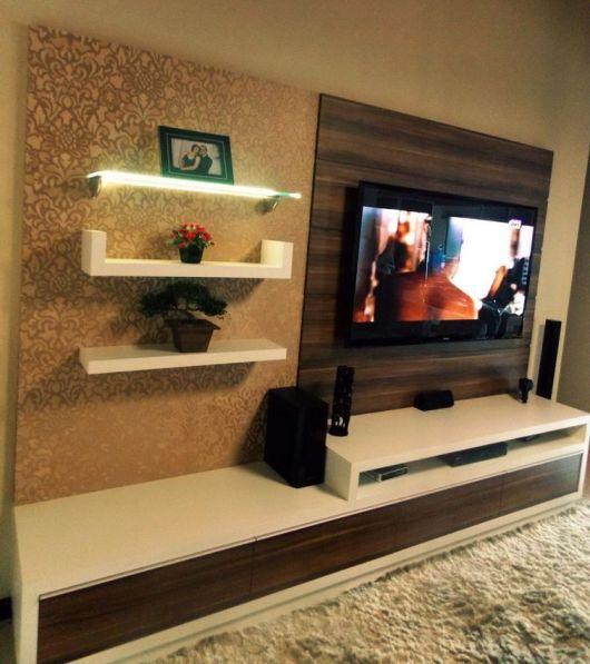 Rack para Sala Pequena u2013 40 Modelos Ideais para Economizar Espaço! # Decoração Rack Para Sala Pequena