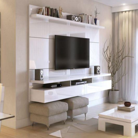 Rack para sala pequena 40 modelos ideais para economizar - Manhattan home design hyderabad address ...