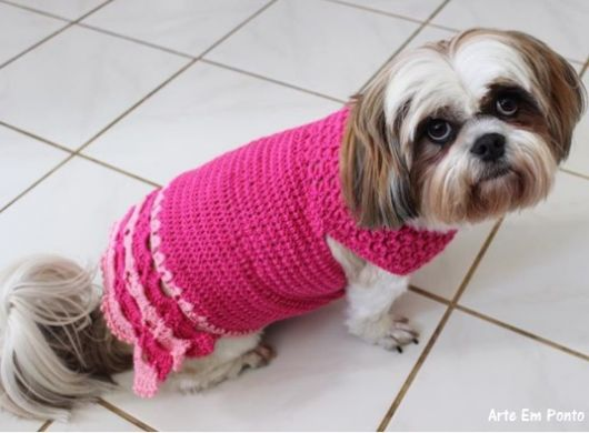 roupa de crochê vestido