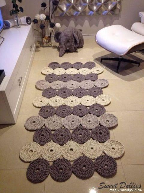tapete moderno de crochê