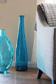 vaso azul grande transparente