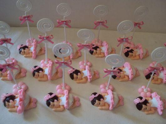 Bailarina de biscuit lembrancinha