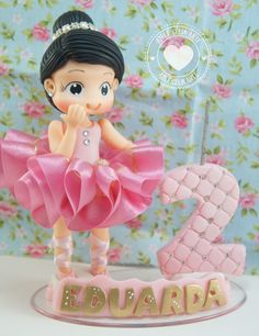 Bailarina de biscuit para topo de bolo