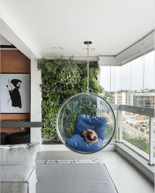 cadeira suspensa acrílico transparente