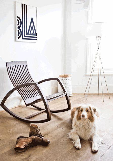 cadeira moderna e clean madeira