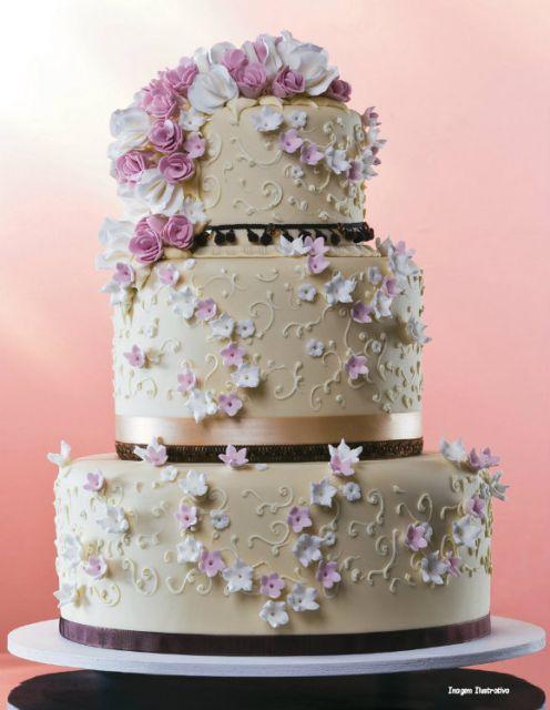 Flores de Biscuit pequenas para bolo