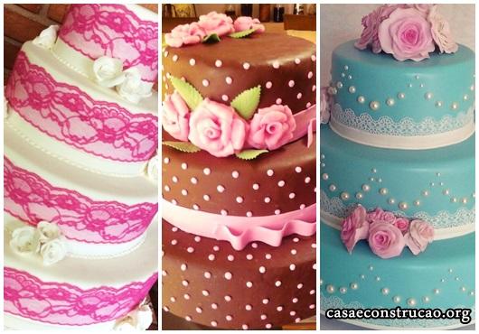 Flores de Biscuit para bolo