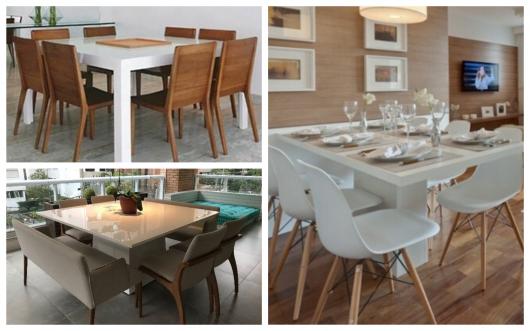 mesa branca de jantar