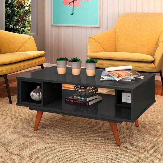 mesa de centro vintage quadrada