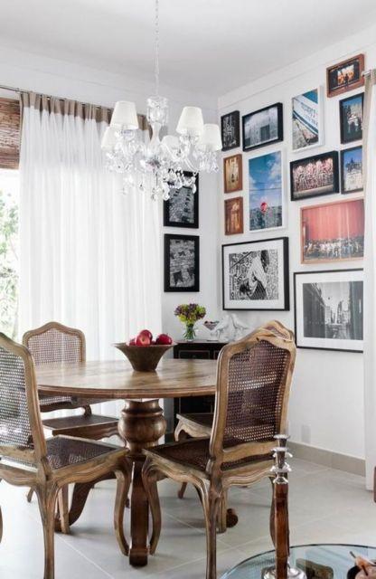 sala de jantar vintage