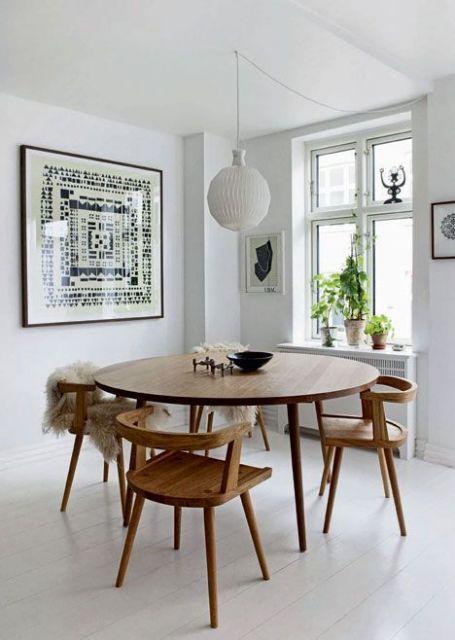 mesa de jantar redonda madeira