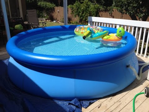 piscina redonda com filtro