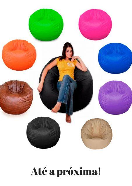 ilustração final do post com vários puffs coloridos nas cores, rosa, verde, azul, roxo, marrom, preto, laranja e nude.