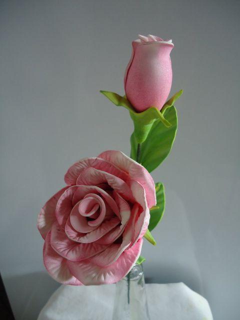 Rosa de EVA botão rosa claro
