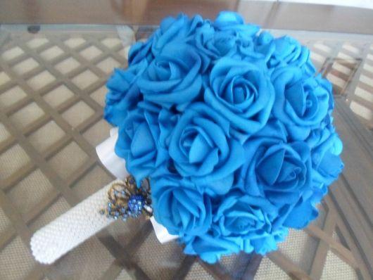 Rosa de EVA buque azul claro
