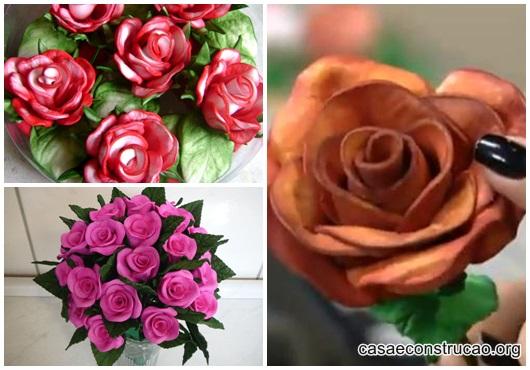 Rosa de EVA inspirações