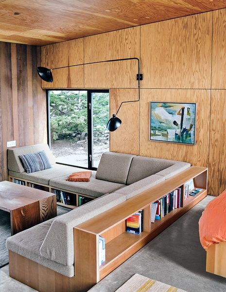 sofá planejado madeira
