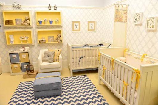 tapetes cinzas nos quartos de bebês