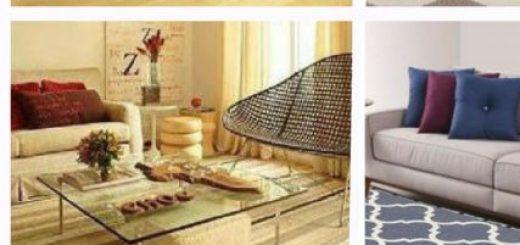 fotos de ambientes decorados com tapete sisal.