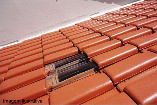 telhado com telha romana