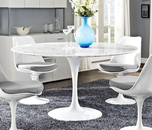 Dica de base para mesa de jantar para decoração moderna e clean