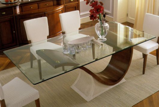 Outra dica de base para mesa de jantar sinuosa