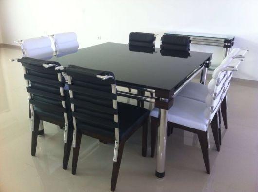 mesa aço anox com preto