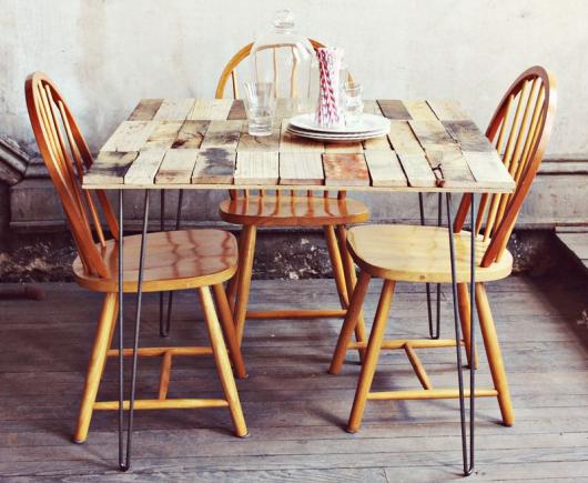 base para mesa sala de jantar rústica