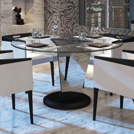 Base espelhada para mesa redonda de vidro