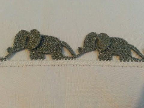 Bico de crochê de elefante