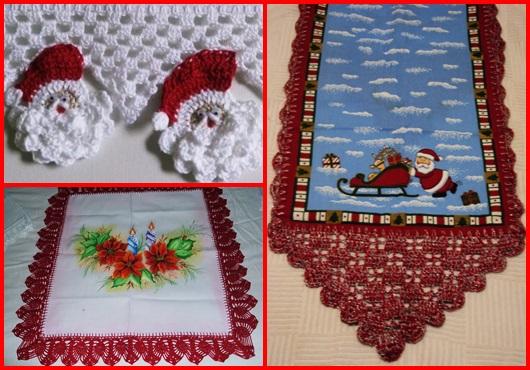 Bico de crochê natalino inspirações