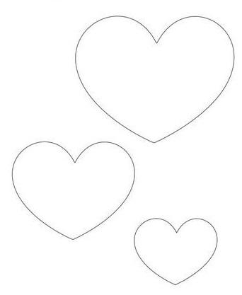 chaveiro de feltro molde coração