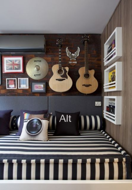 Enfeites para quartos de amantes de música