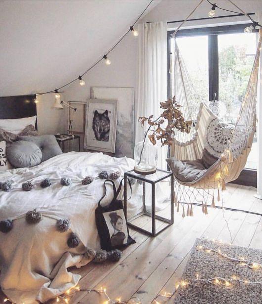 Decore o quarto de casal com luzes