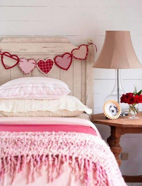 faixa de corações pode enfeitar seu quarto