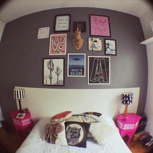 Conjunto de quadros temáticos para quarto feminino