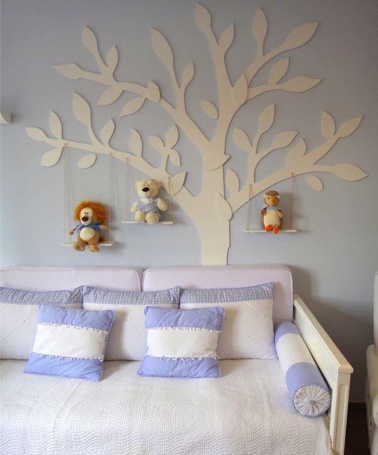 Árvore em MDF para enfeitar a parede do quarto