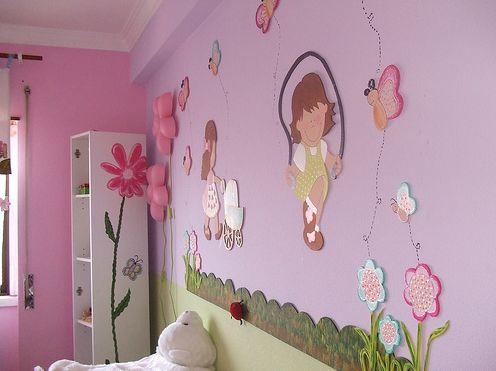 Decore o quarto de bebê feminino com EVA