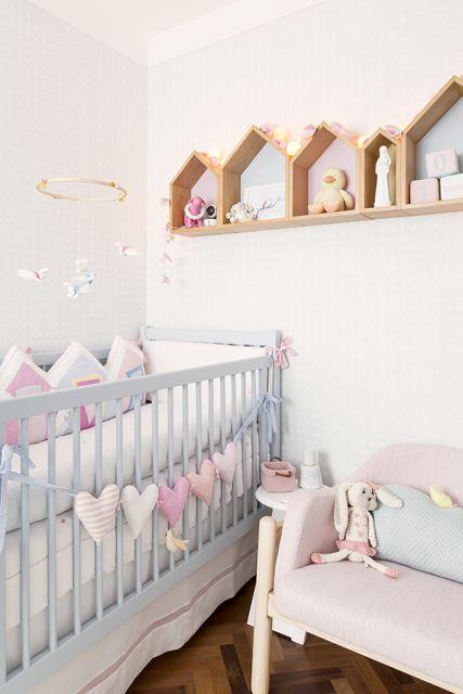 Casinhas em MDF para complementar a decoração do quarto