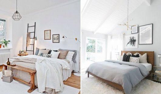 Luminárias pendentes podem enfeitar o quarto de casal