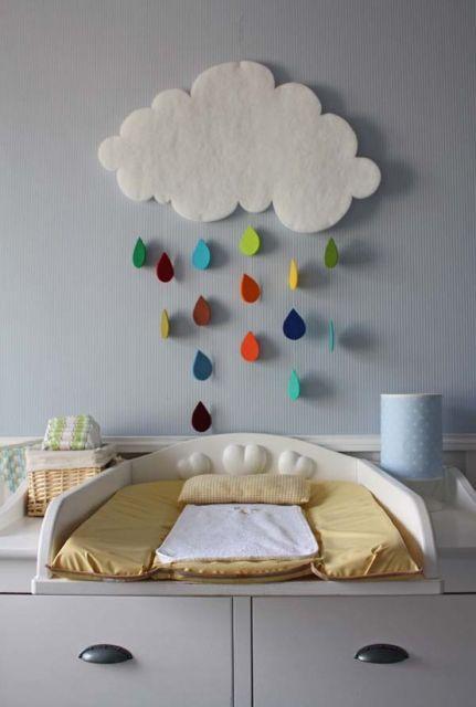 Nuvem de EVA para quarto de bebê
