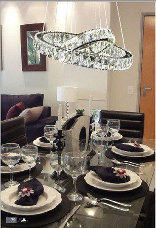 lustre moderno mesa de jantar