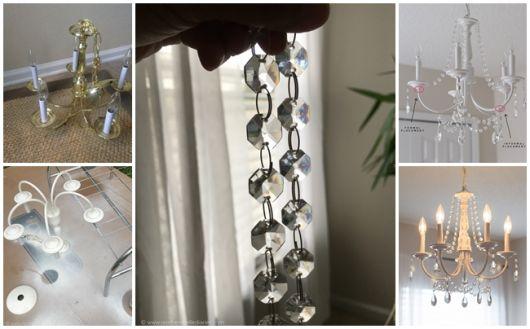 como fazer lustre candelabro