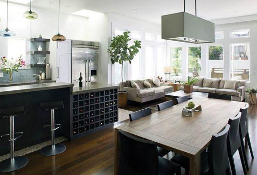 Lustre quadrado para cozinha
