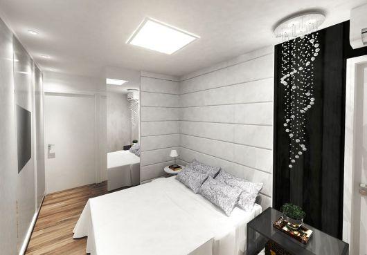 Lustre de teto discreto para seu quarto