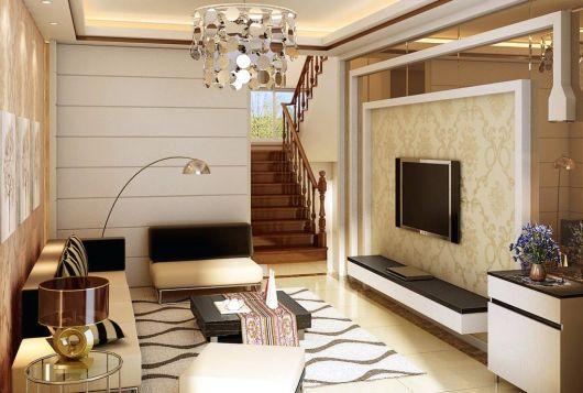 Lustre mais chamativo para uma sala de TV ou de estar